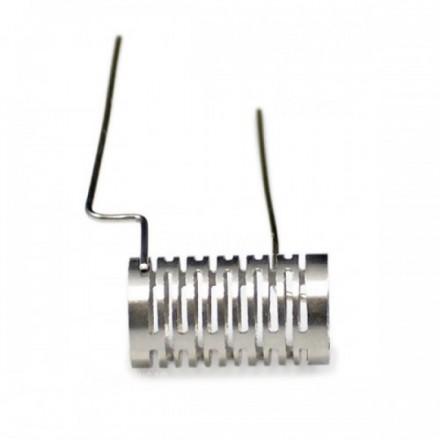 Спираль Wismec Notch Coil с установленной ватой