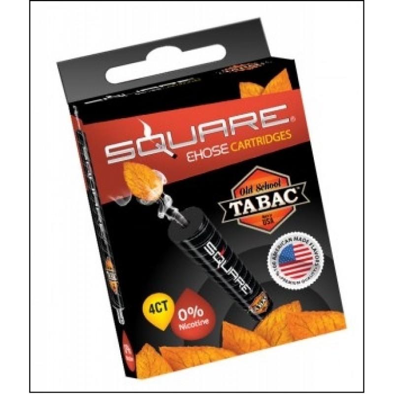 Картриджи для электронного кальяна – Square Old school tabac  (Оригинал США)