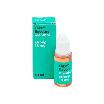 Жидкость для электронных сигарет I like flavours  menthol 18мг, 10 мл