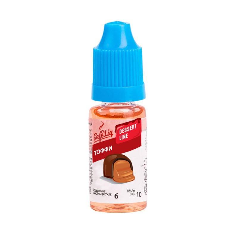 Жидкость для электронных сигарет Safeliq Тоффи (Ириска), 10 мл.