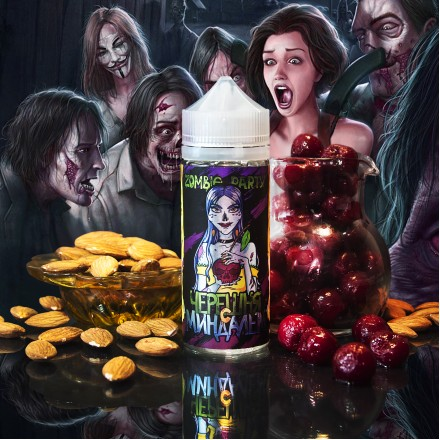 Жидкость Zombie Party, Черешня с миндалём, 120 мл.