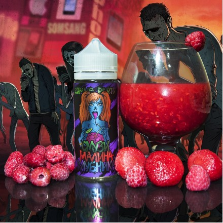 Жидкость Zombie Party, Смузи малина и клубника, 120 мл.